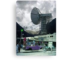 Construction of the Pakistani Starfleet Deepspace Telebeam Tower in Peshawar Canvas Print