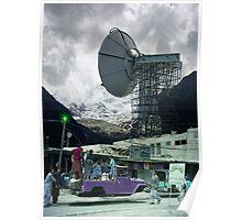 Construction of the Pakistani Starfleet Deepspace Telebeam Tower in Peshawar Poster
