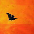 Sunset Egret by Jack G Brauer