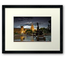 St. Mary Cathedral and The Archibald Framed Print