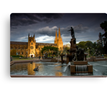 St. Mary Cathedral and The Archibald Canvas Print