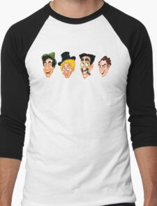 The Marx Brothers Faces  Men's Baseball ¾ T-Shirt