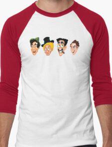 The Marx Brothers Faces  Men's Baseball ¾ T-Shirt