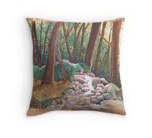 Cardboard Forest Throw Pillow
