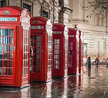 London Phone Boxes by Vincent Sluiter