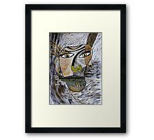 Barbarism (2) - Abstract head Framed Print