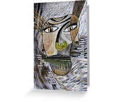 Barbarism (2) - Abstract head Greeting Card