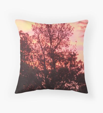 Pink Trees Throw Pillow