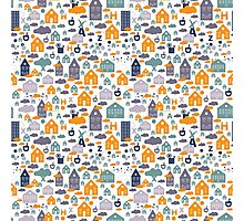 House Pattern Photographic Print