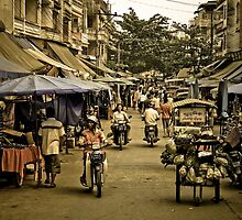Market Street - Tachilek, Burma by Stephen Permezel