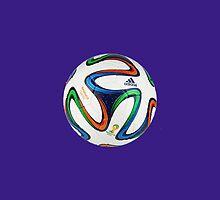 2014 FIFA World Cup Brazil match ball big enough for duvet by JoAnnFineArt