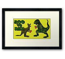Roo vs. Rex Framed Print