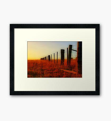 """The Boundary Line "" Framed Print"