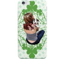 Pit Bull T-Bone Lucky Puppy iPhone Case/Skin
