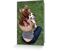 Pit Bull T-Bone Lucky Puppy Greeting Card
