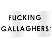 Fucking Gallaghers! Poster