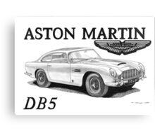 ASTON MARTIN DB5 007 Canvas Print