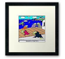 Meanwhile At Cape Cod  Framed Print