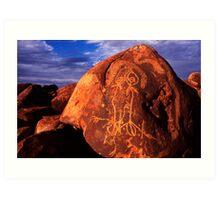 Pilbara Petroglyphs Art Print