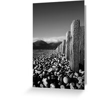 Murlough Beach View Mono Greeting Card