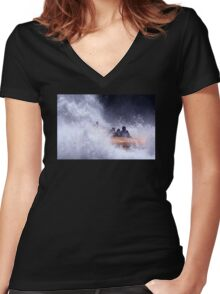 A Great Day Out Women's Fitted V-Neck T-Shirt