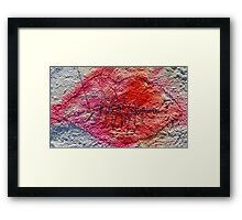Stitched lips Framed Print