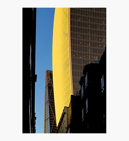 Narrow street and skyscrapers Photographic Print