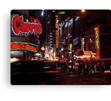 Manhattan by night, New York USA Canvas Print