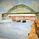 The Tyne Bridges by GEORGE SANDERSON