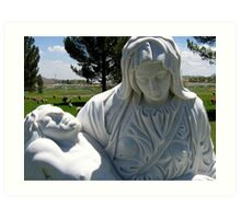 Jesus and Mary Art Print