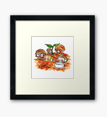 Tinies-Gardening Framed Print