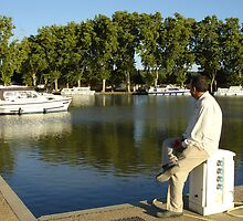 Watching Boats in the South of France by petercoupe