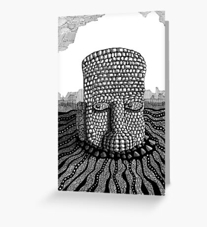 214 - STONE HEAD - INK - 2007 Greeting Card