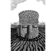 214 - STONE HEAD - INK - 2007 Photographic Print