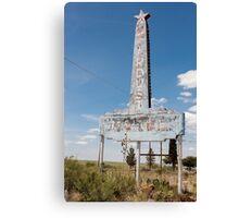 Abandoned Stardust Motel. Marfa, Texas Canvas Print