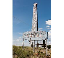 Abandoned Stardust Motel. Marfa, Texas Photographic Print