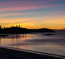 Roque Bluffs sunrise Maine  by TKPhotos
