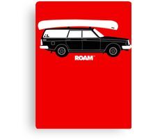 ROAM Volvo Granola Wagon with Canoe Canvas Print