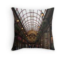 Central Arcade Newcastle Upon Tyne Throw Pillow