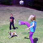 soccer dog by Sandra Hopko