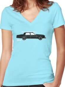 ROAM Rat Caddy Surfer  Women's Fitted V-Neck T-Shirt
