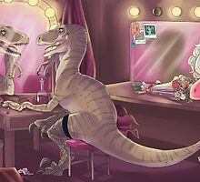 She Stared at Herself in Raptor by LadyMeggieMan