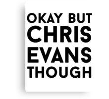Chris Evans Canvas Print