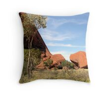 Small Native Tree at Base of Ayres Rock, Northern Territory, Australia. Throw Pillow