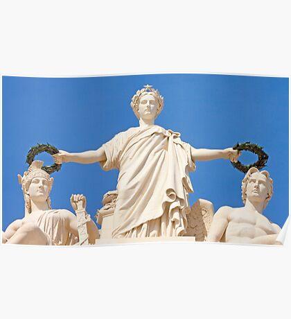 Estatuária Arco da Rua Augusta. Glória, Valor e Génio. Poster