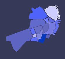 Downtown Boston Neighborhoods- Blue by Ethan Rankin