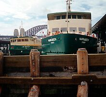 Circular Quay with Ferry and Harbor, Sydney, NSW, Australia by Peter Clements