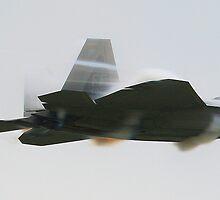 F-22 Raptor going supersonic 2 by Paul Lenharr II