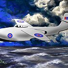 Saunders-Roe SR./A.1 jet powered flying boat - all products except duvet by Dennis Melling