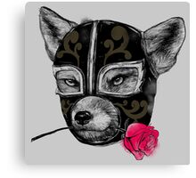 The Mask of el Zorro luchador Canvas Print